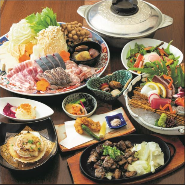【料理のみ】むてきの寄せ鍋コース 全7品